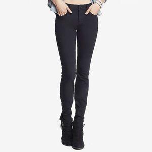 Express Black Stretch Mid Rise Legging Jeans
